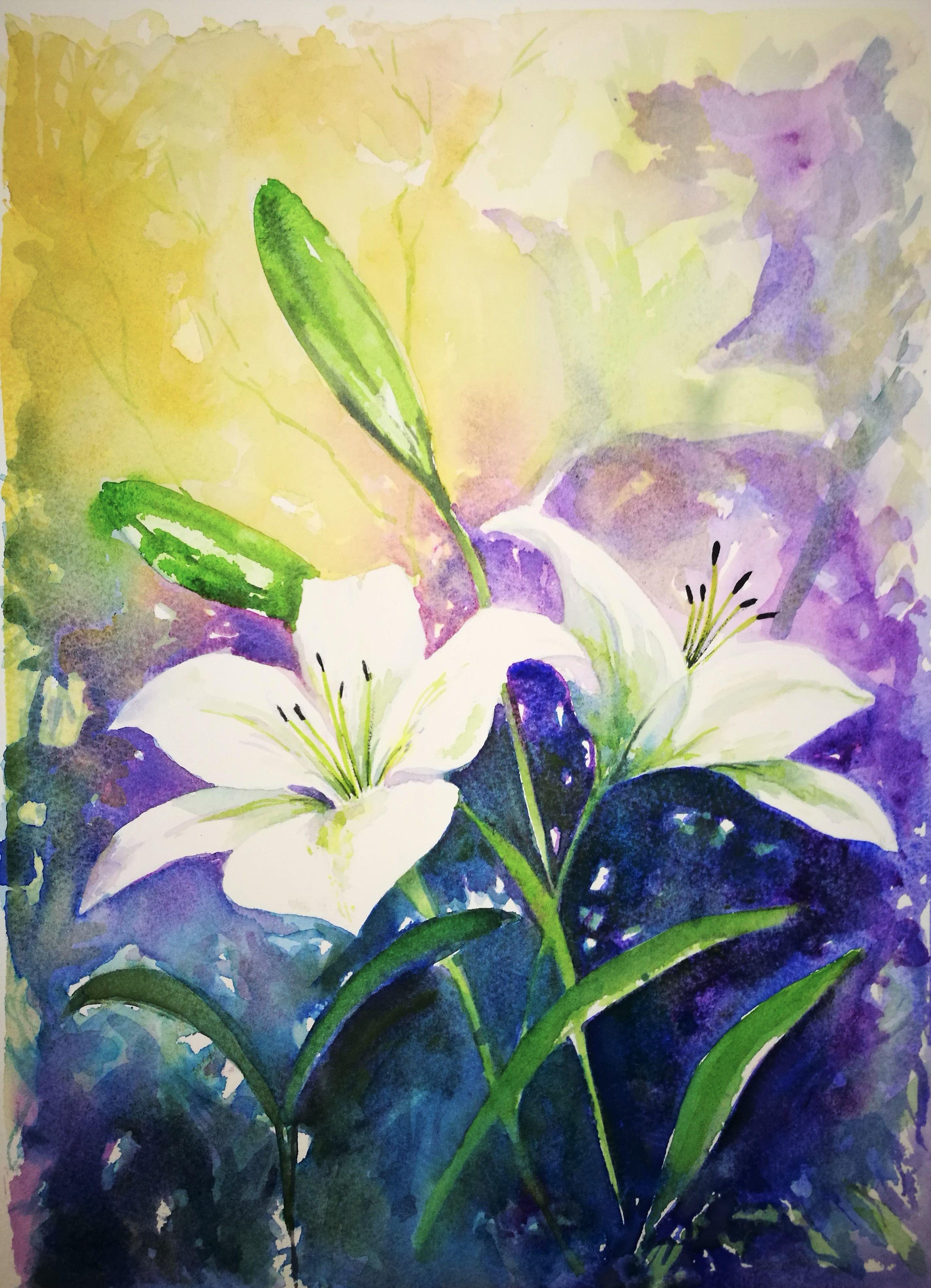 More Lillies In My Garden Art Beautiful Artwork Online Art Gallery