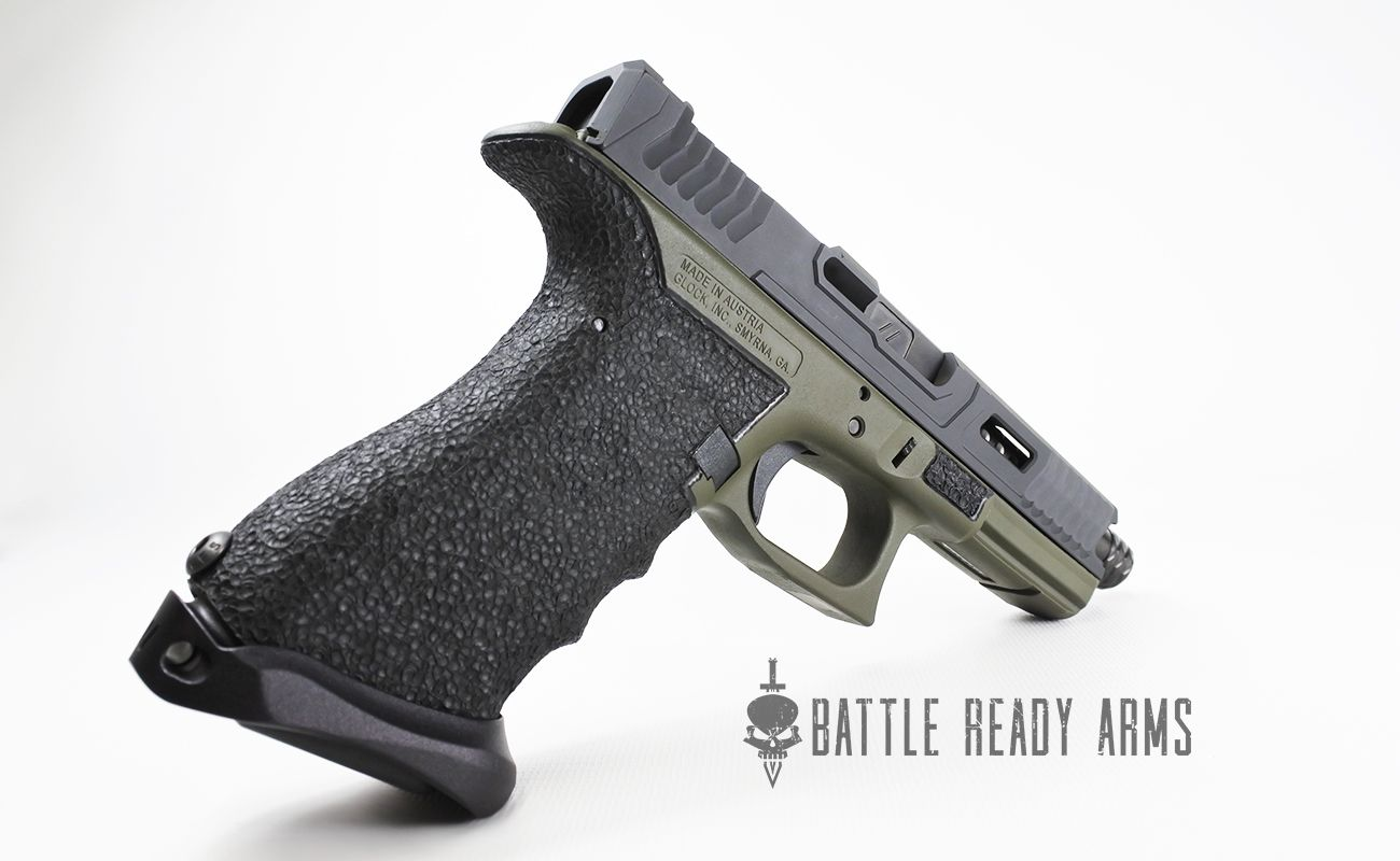 Backstrap blend and stippling from Battle Ready Arms