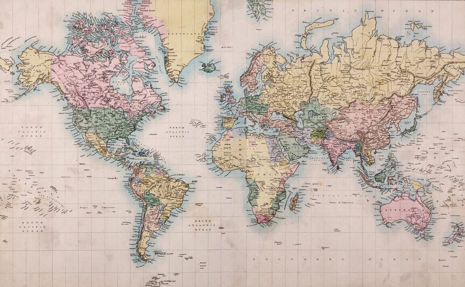 Vintage world map wallpaper from happywall purdue ii vintage world map wallpaper from happywall sciox Images