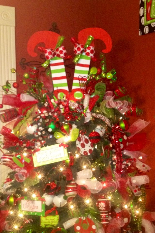 My Elf Feet I Made For My Tree Topper Christmas Christmas