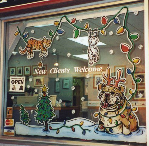 Hand Drawn Window Paintings Christmas Window Painting Seasonal Window Painting Custom Window Ar Christmas Window Painting Window Painting Painted Window Art