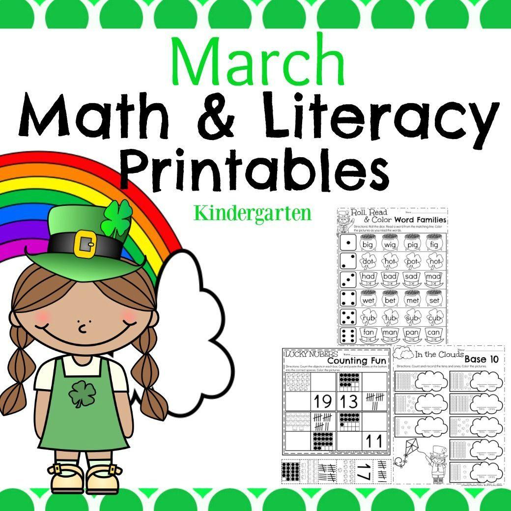 March Kindergarten Worksheets With Images