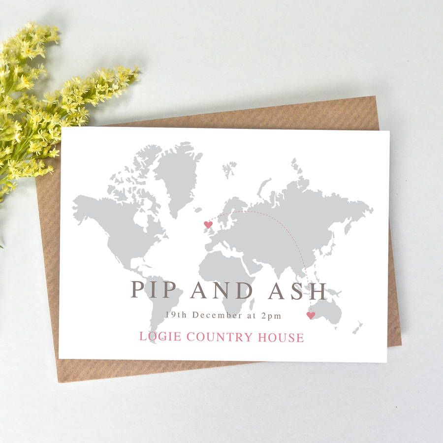 Are You Interested In Our Map Wedding Invitation With Location Need