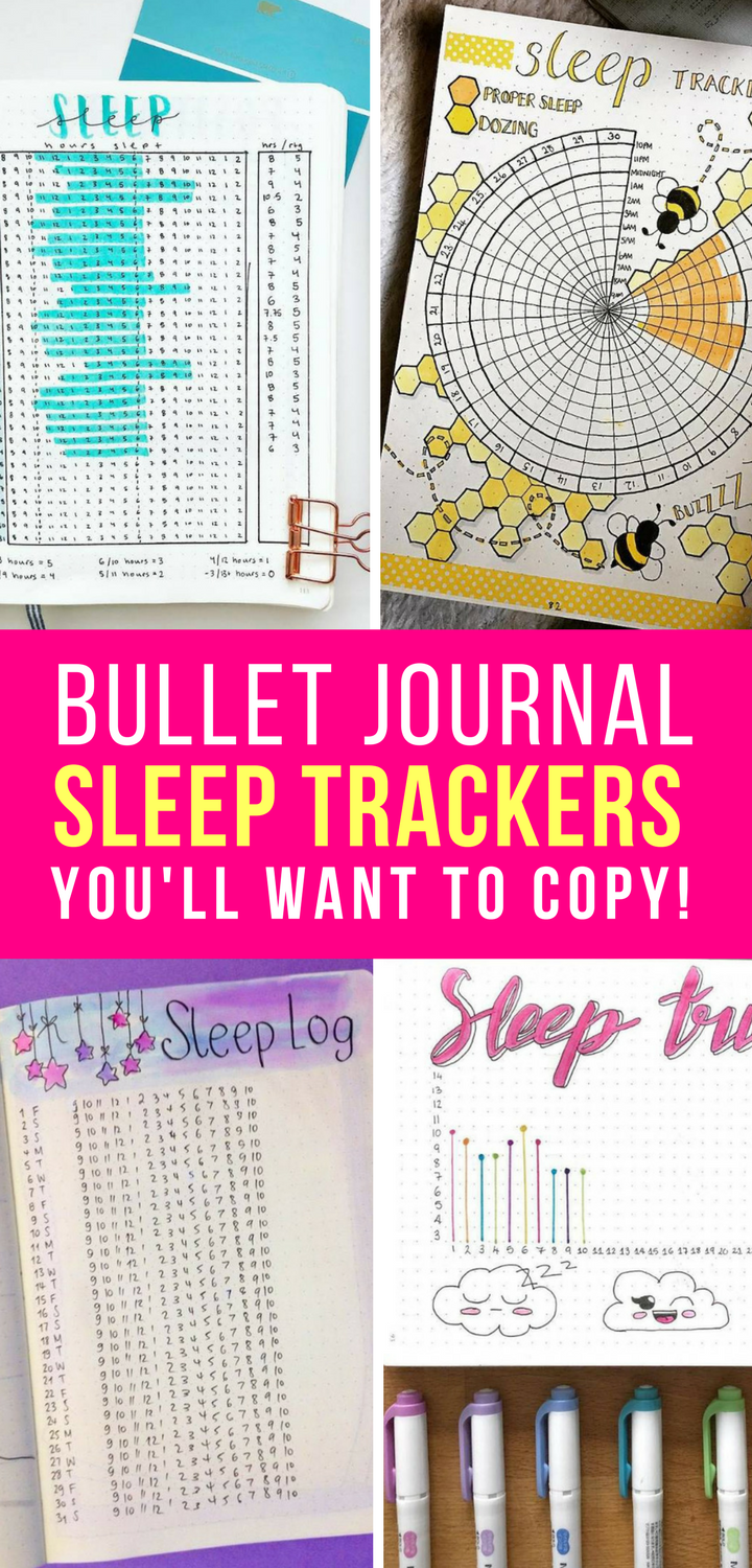 25 Bullet Journal Sleep Tracker Spreads {Monitor your Zzzzzzzs!}