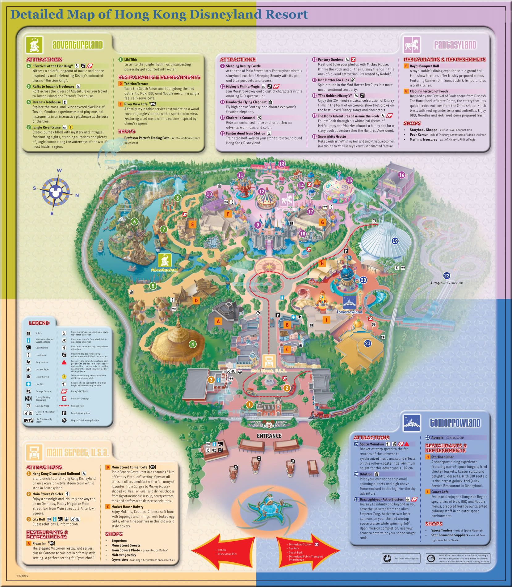 Singapore To Hong Kong Disneyland By Train Travel Top - Disneyland brazil map