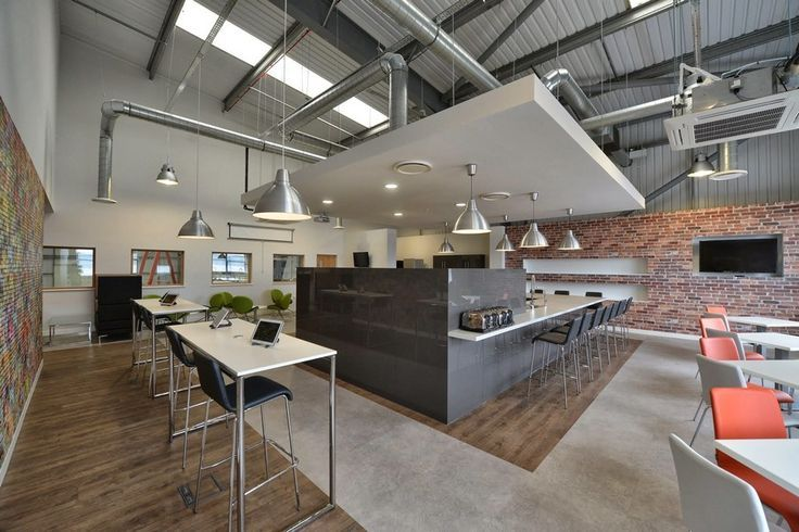industrial modern office. Nsg Modern Offices 5 Break Out And Dining Space In Manchester With Industrial Influences Office O