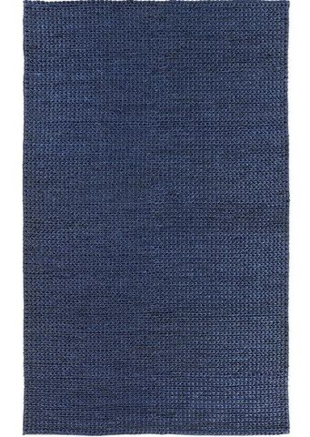 Classic Solid Blue Area Rugs Braid Navy Blue Natural