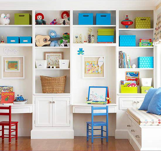 Kids Study Area Ideas: Smart Storage In Dazzling Displays In 2019