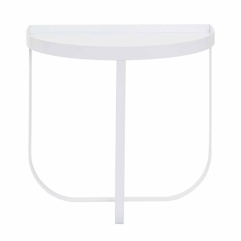 Weisser Nachttisch Aus Metall Online Bei Milanari Com Runder Kaffeetisch Nachttisch Regal Nachttisch Rund