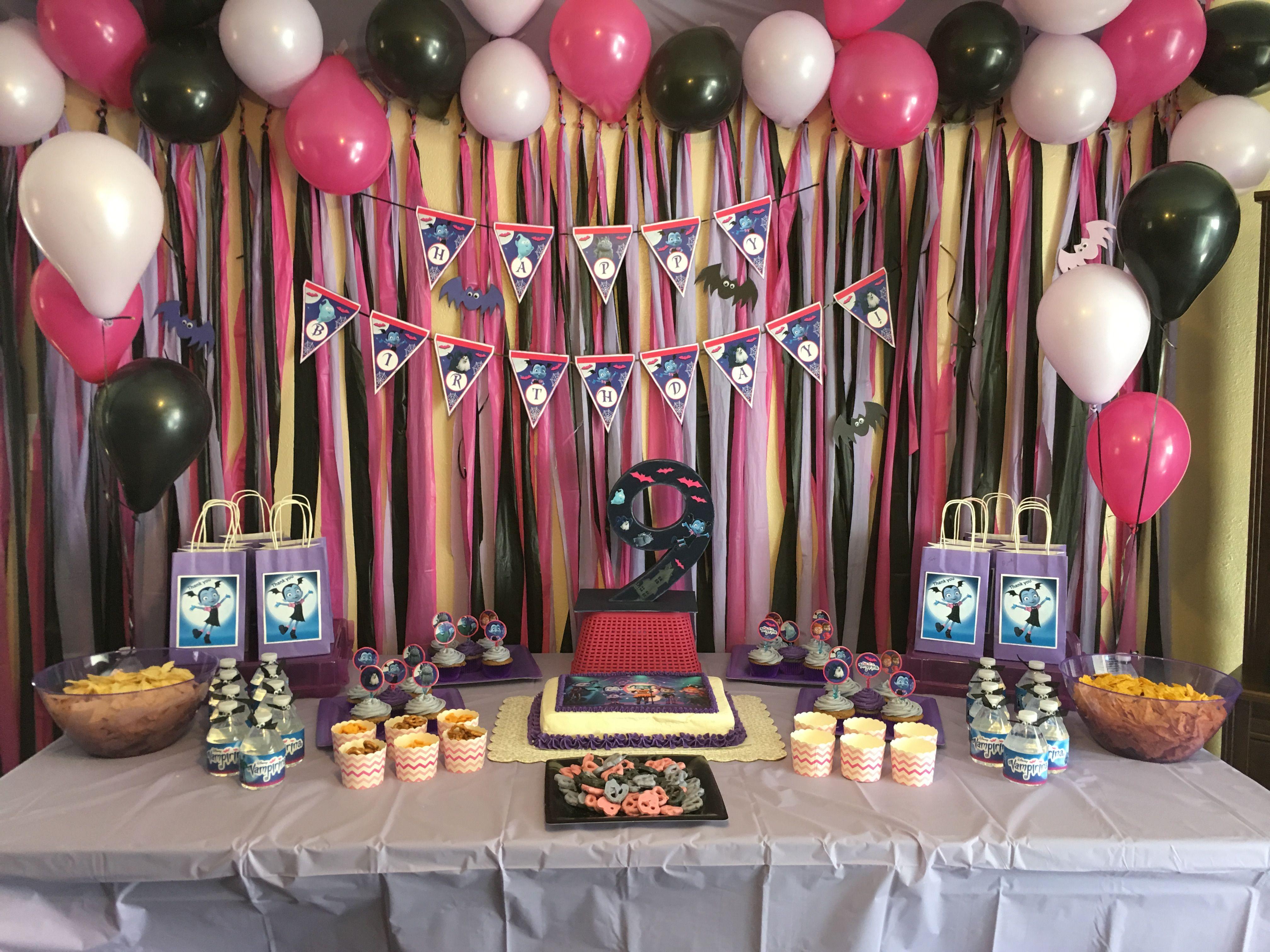 Pin by stefani on ideas para fiesta de vampirina in 2019 - Decoracion de fiestas de cumpleanos infantiles ...