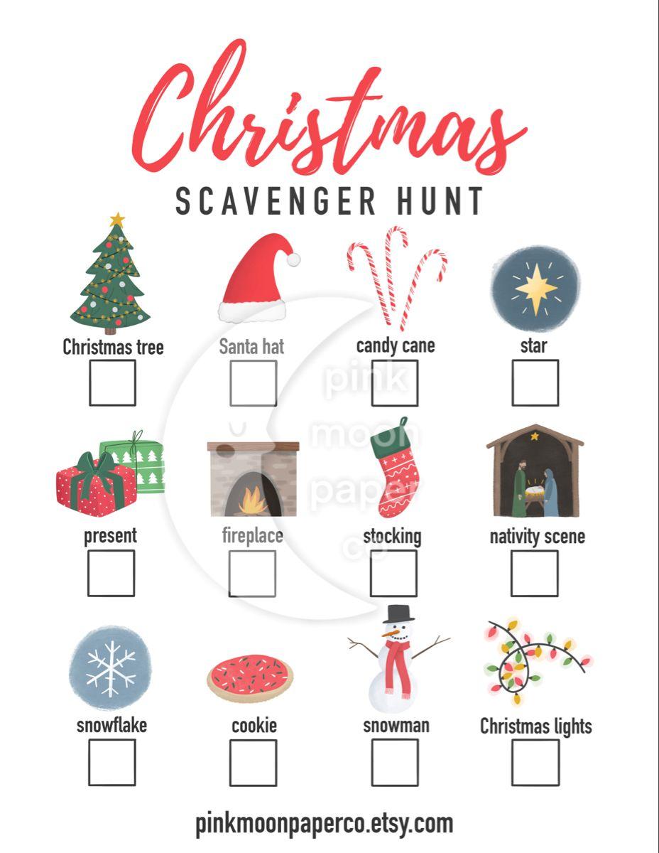 18++ Christmas scavenger hunt clipart information