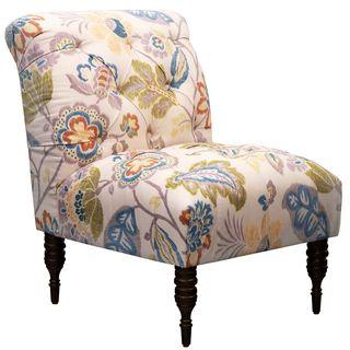 Superbe Skyline Furniture Tufted Chair In Kazoo Amber