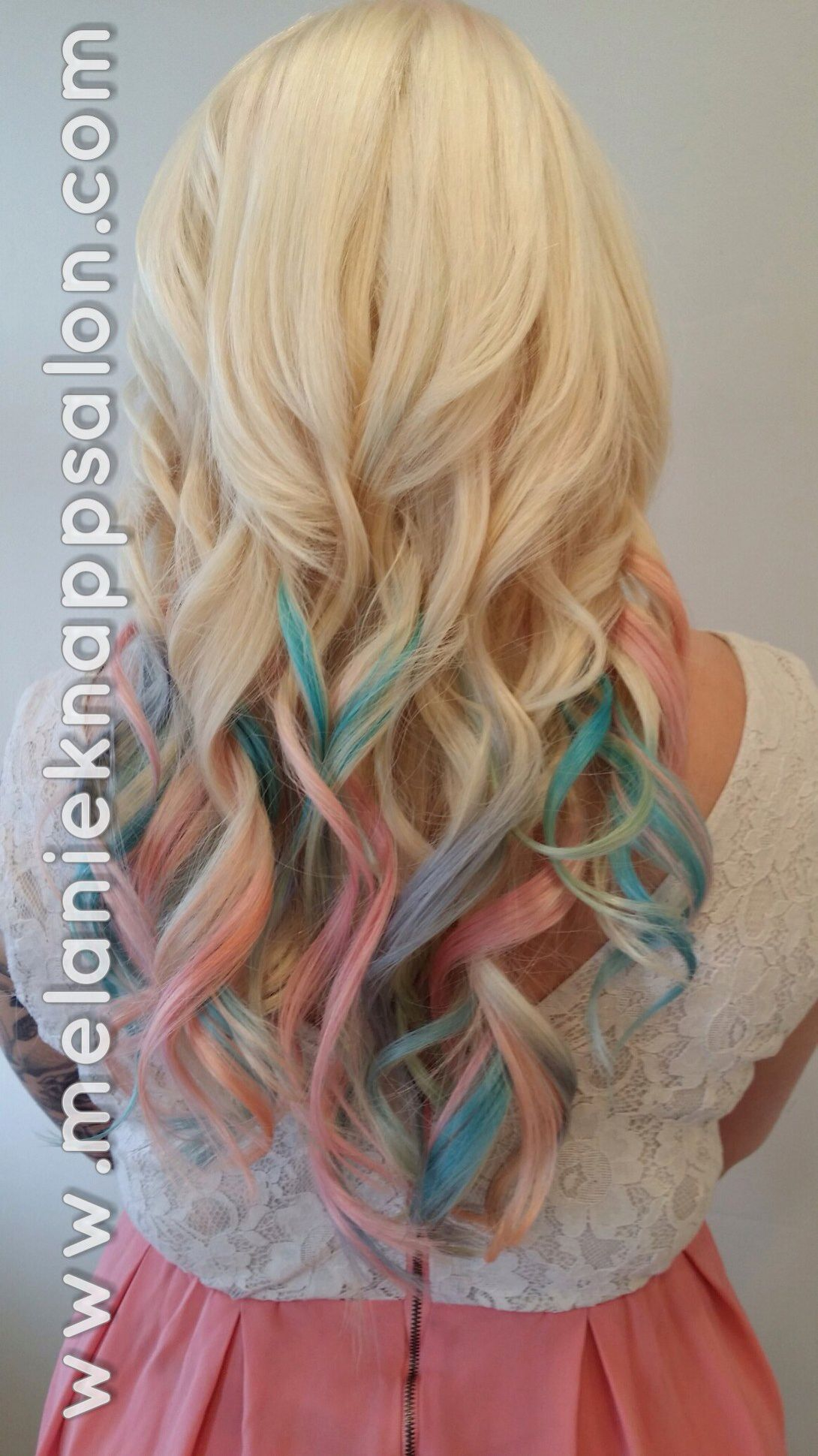 Pastel Ombre Hair With Babe Tape In Extensions To Take From Short To