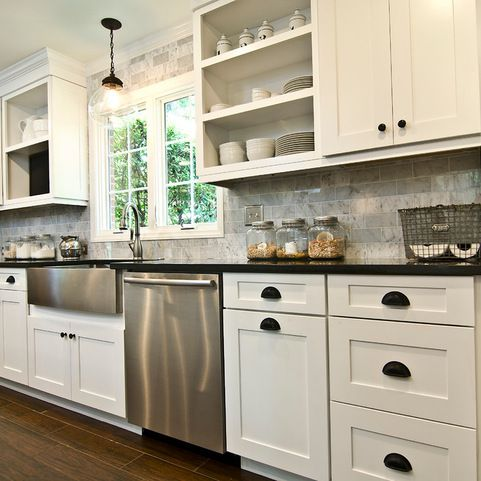 Marsh Cabinets Summerfield Linen Design Ideas Pictures Remodel And Decor Eclectic Kitchen Kitchen Cabinets Kitchen Plans