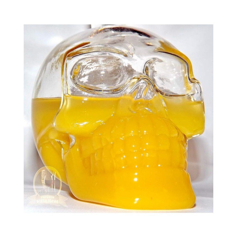 Garrafa/Decanter de Crystal - Modelo Crystal Head Vodka Skull Face Bone Glass - 400ml (vazia)