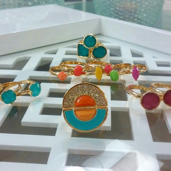 Colorblock your stackable rings!