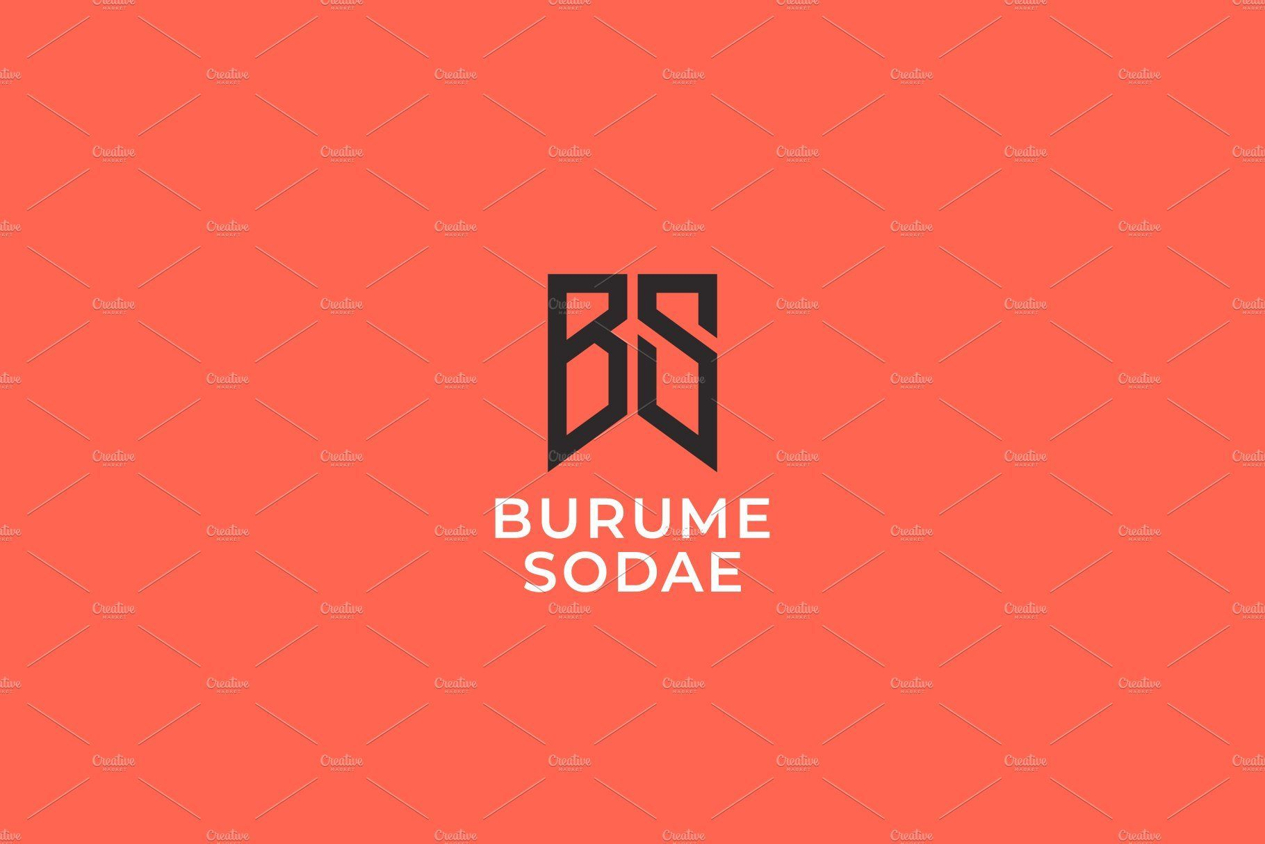 Bs Monogram Of Two Letters B S Letter Logo Design Minimal Logo Design Logo Design