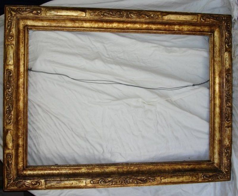 Antique Wooden Picture Frames Antique Gilt Carved Wood Frame For