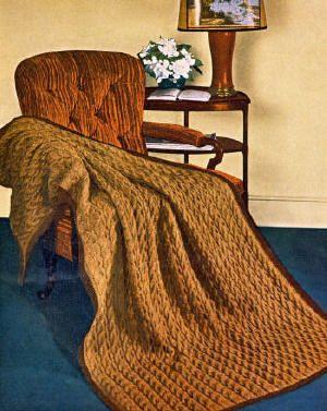 free knit afghan patterns   afghan vintage knitting ...