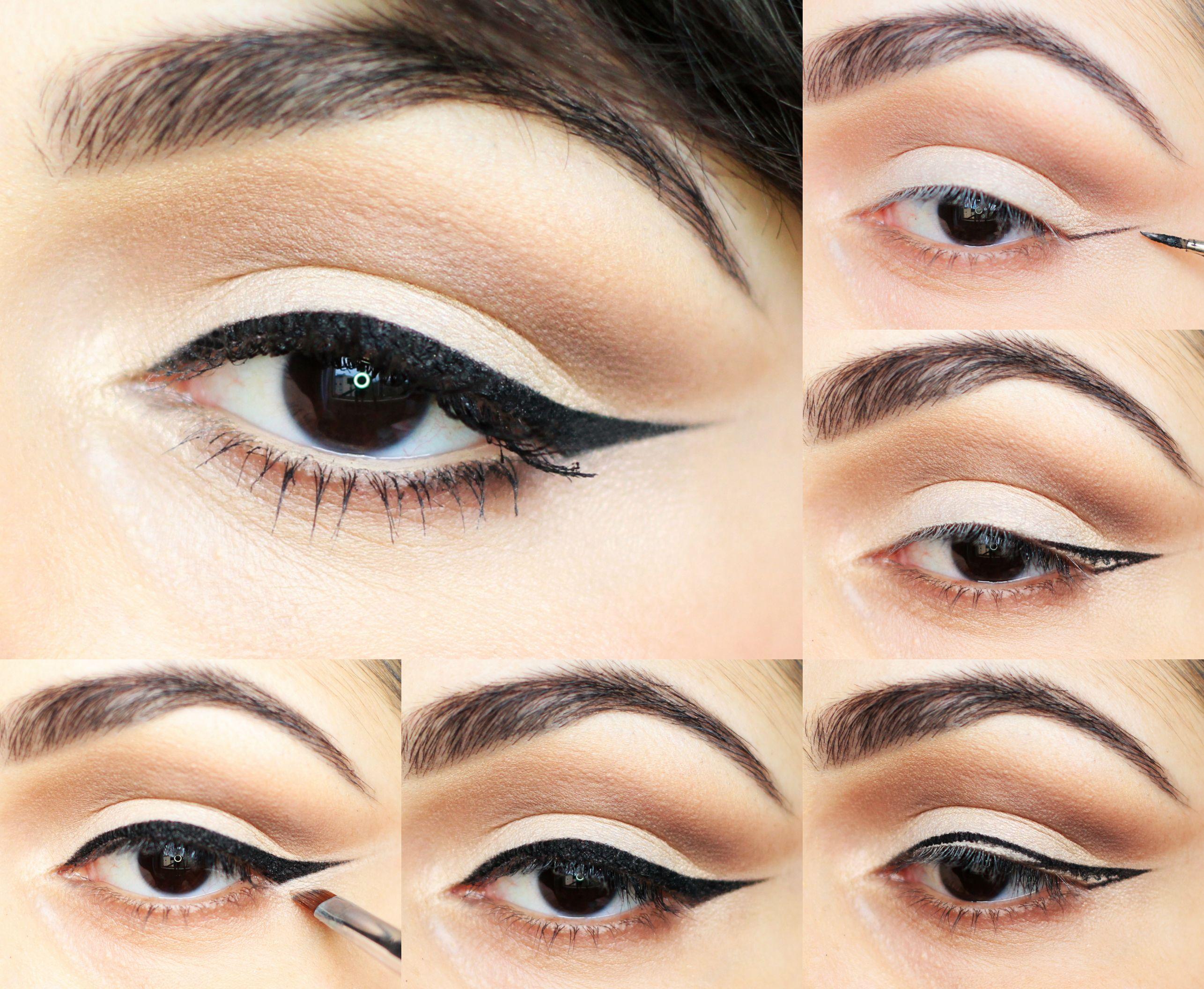 Tutorial Delineado Gatinho em 20 Passos   Ideias de maquiagem ...