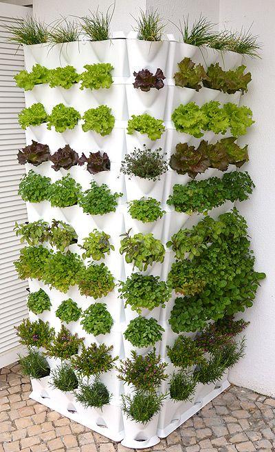 Inspiración con el jardín vertical #minigarden #huerto - jardineras verticales