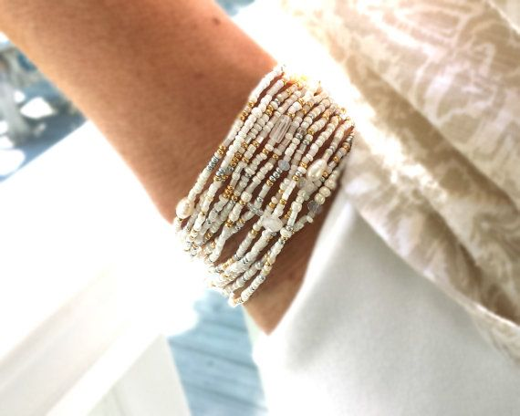 venus pearl moonstone and crystal extra long seed bead wrap bracelet wear as necklace. Black Bedroom Furniture Sets. Home Design Ideas