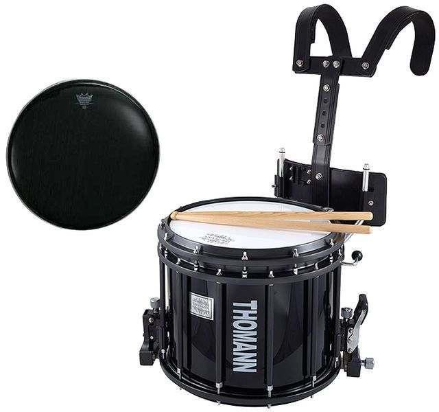 Thomann SD1412BL HT Remo Black Thomannde Orchestra Drums