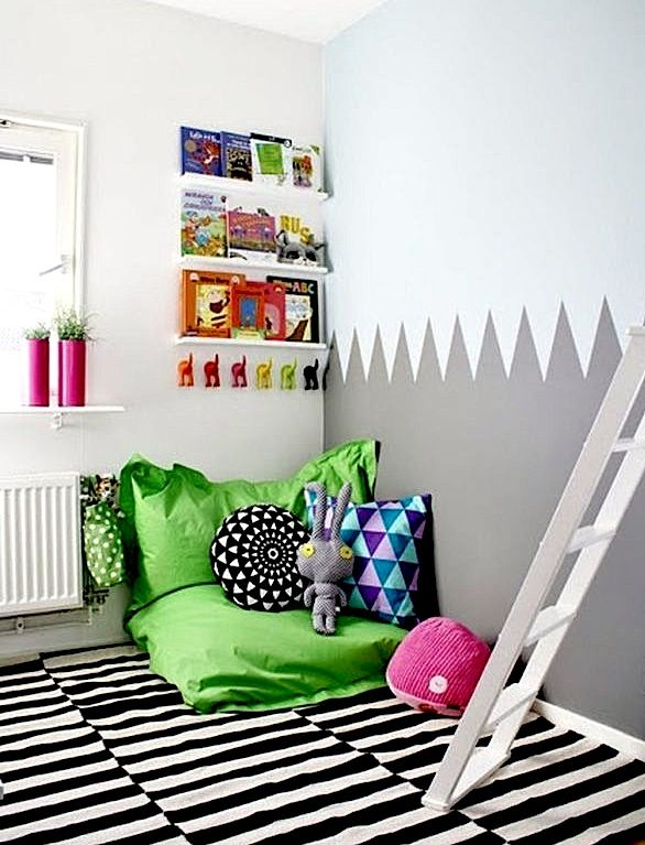 corner reading area for kids b b pinterest corner kids rooms and cozy. Black Bedroom Furniture Sets. Home Design Ideas