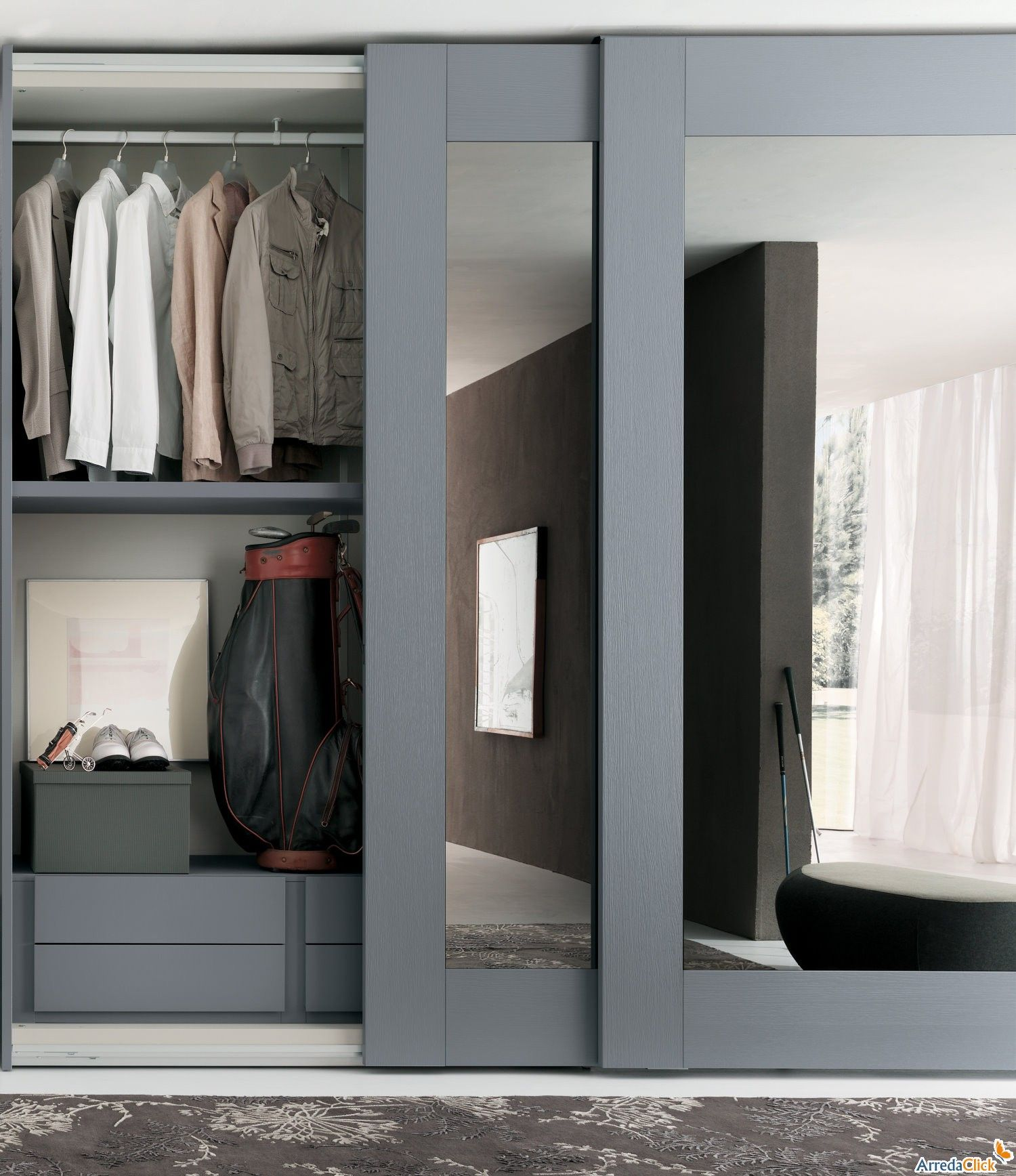 Sliding Bedroom Closet Door Mirror
