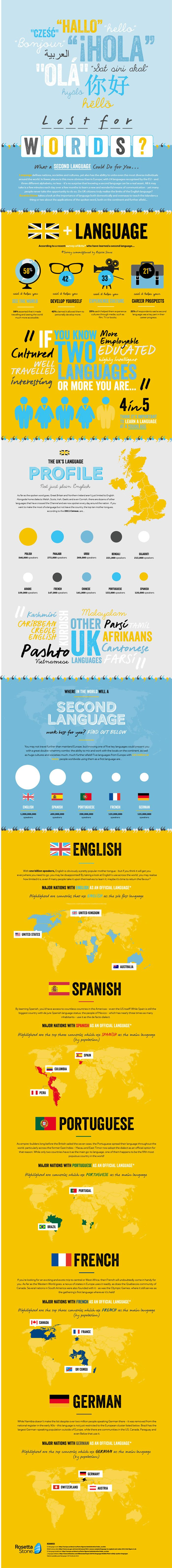 Educational Infographic  Data Visualisation Infographic  Second  Infographic Description Infographic  Second Language Benefits With   Billion Speakers English Is Beyond Any
