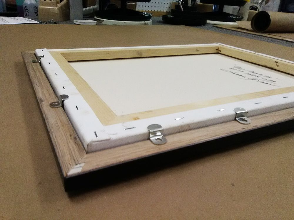 canvas offsets - hardware for framing a painting