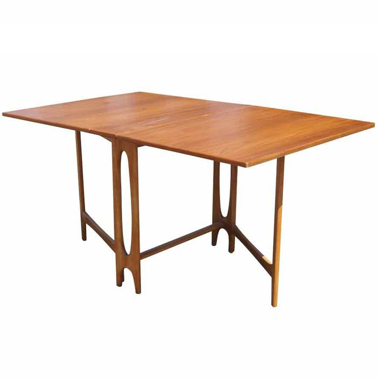 Scandinavian Teak Drop Leaf Dining Table  Teak Leaves And Beauteous Scandinavian Teak Dining Room Furniture Design Decoration