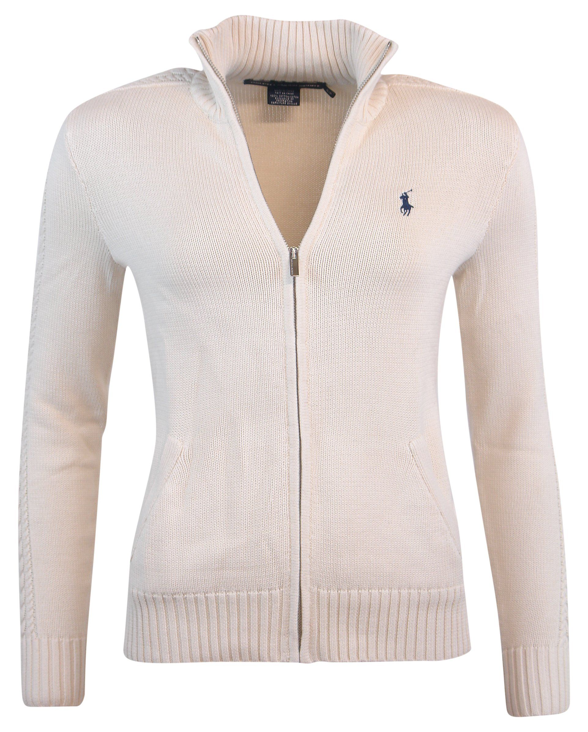 Ralph Zip Full Polo Womens Cardigan Sweater Xs Lauren shdtxBQroC