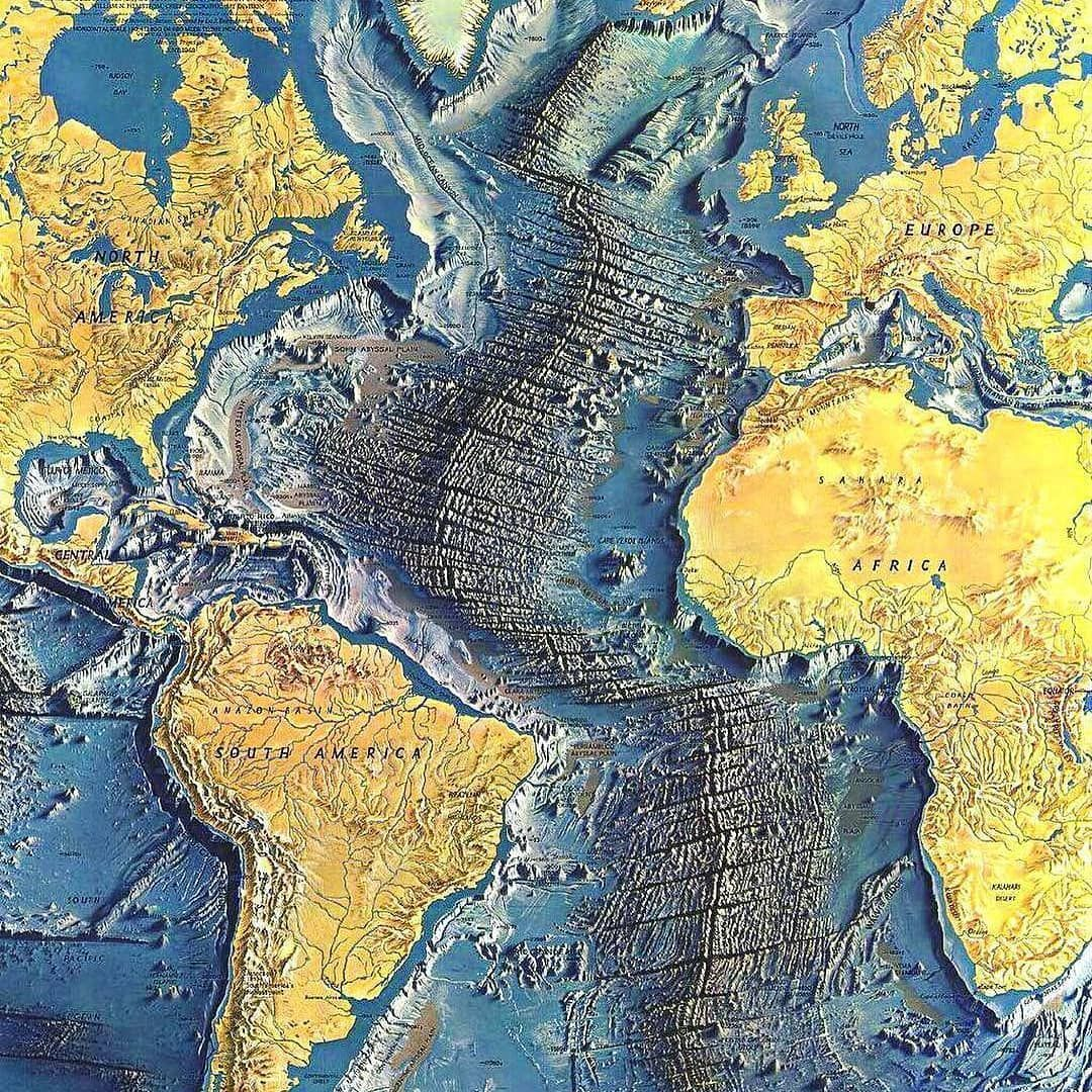 The Atlantic Ocean Floor National Geographic By