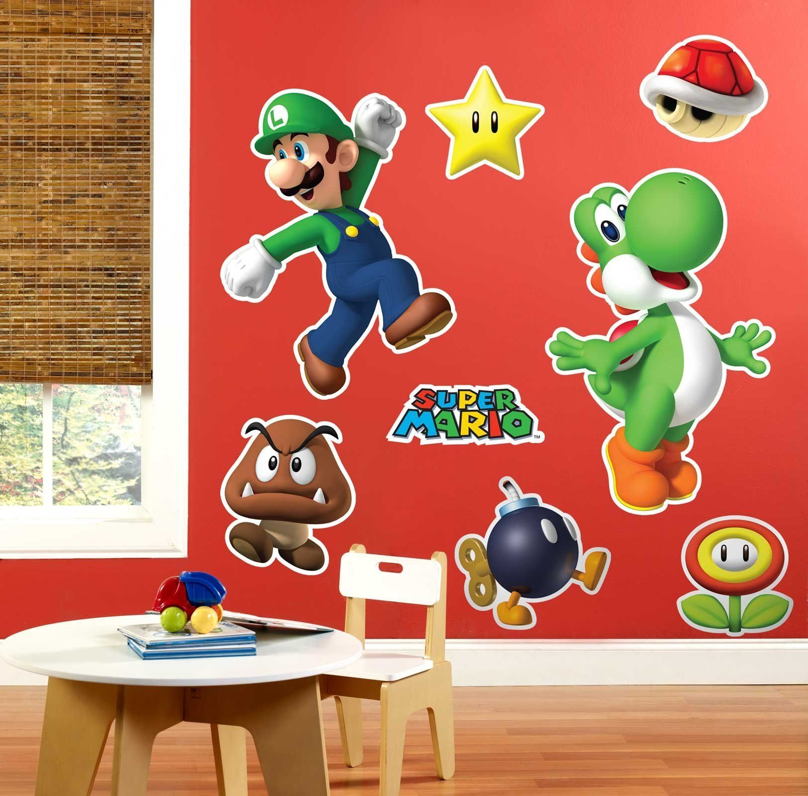Super Mario Party Giant Wall Decals Super mario party Wall decals