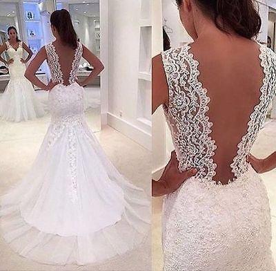 Tulle Mermaid white/ivory wedding dress custom size 2-4-6-8-10-12-14-16-18-20 https://t.co/lX83z2P76e https://t.co/VsLkEzTQz9