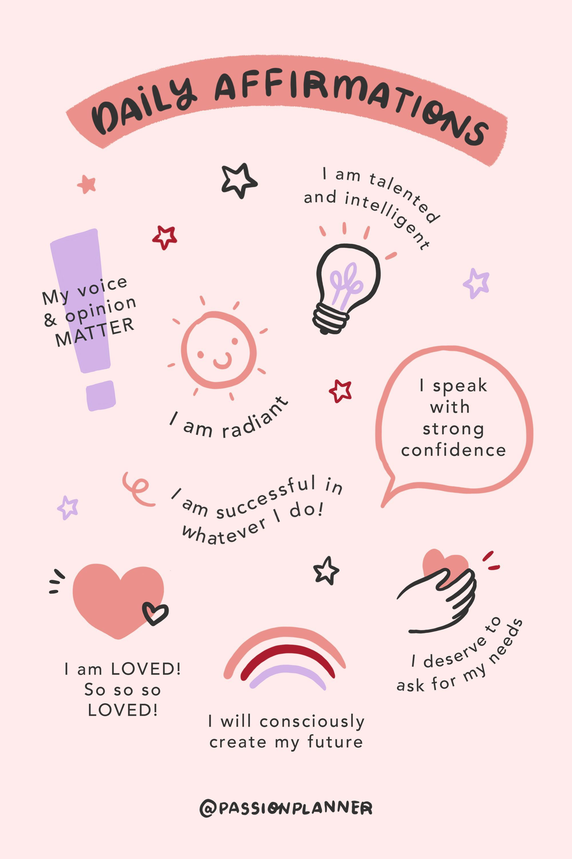 Daily Affirmations and Words of Encouragement for Self Care