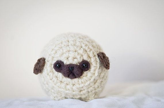 8036f1640bc Mystery Pug -Cute Amigurumi Kawaii Crochet Pug by artbySusieH ...