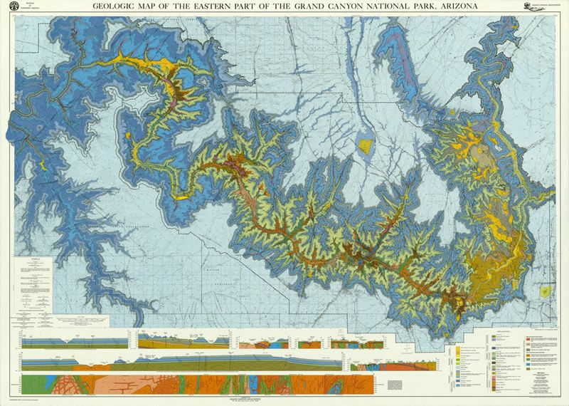 Geologic map of the eastern part of the Grand Canyon  Geography