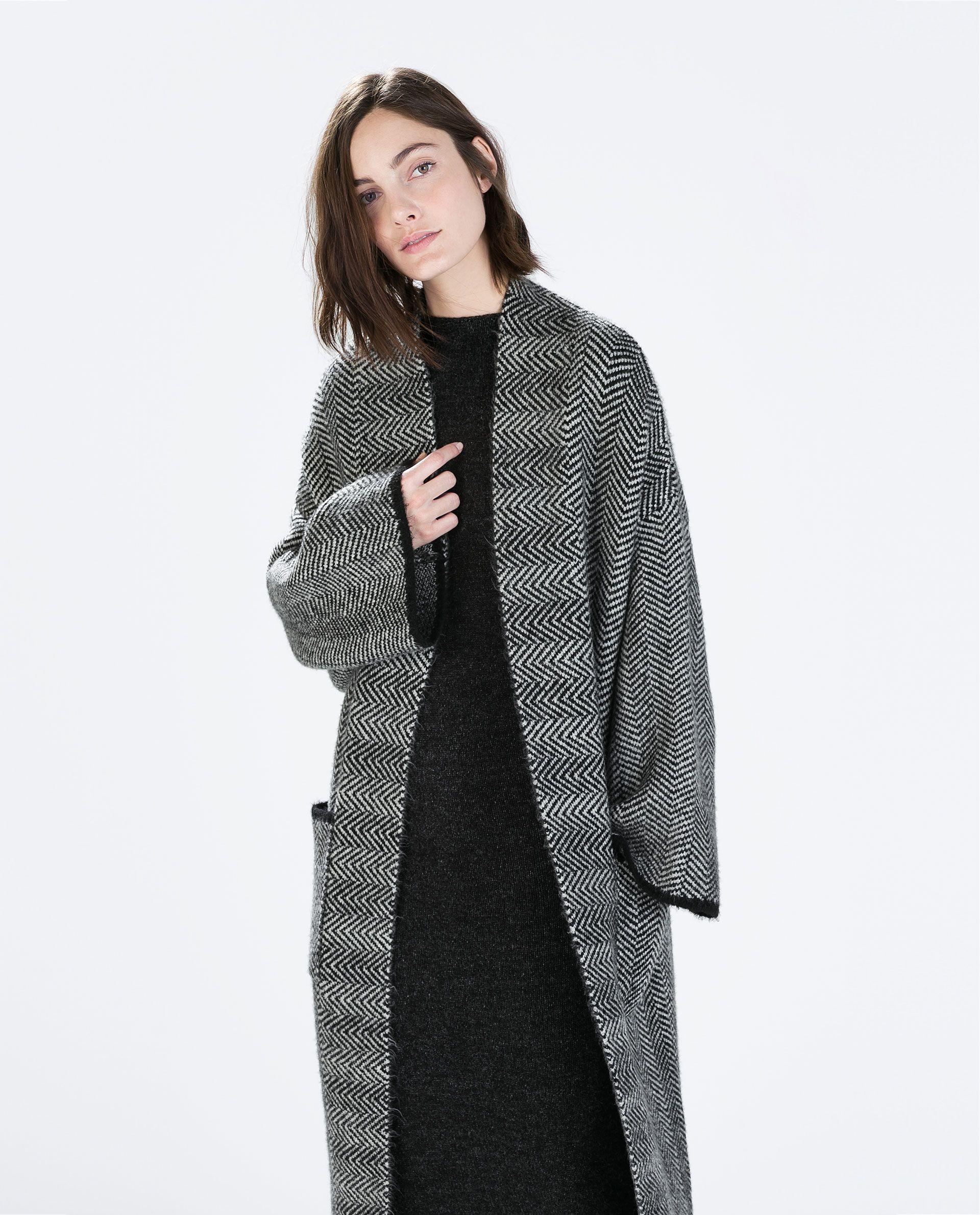 2c912480 HERRINGBONE KNIT COAT - Cardigans - Knitwear - | the perfect coat ...