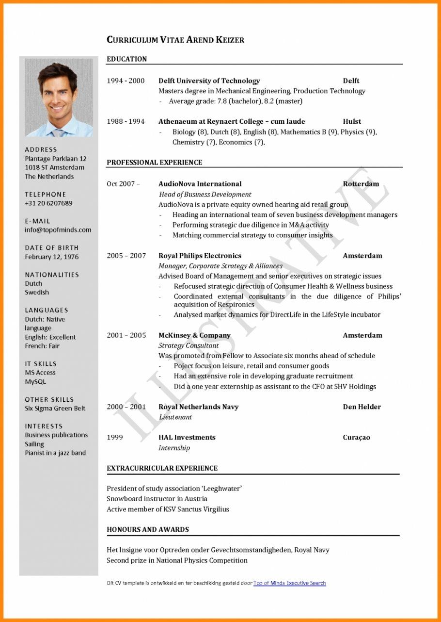 Cv Template Germany With Images Job Resume Format Curriculum