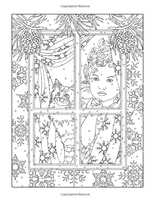 Creative Haven Winter Scenes Coloring Book Adult Coloring Marty