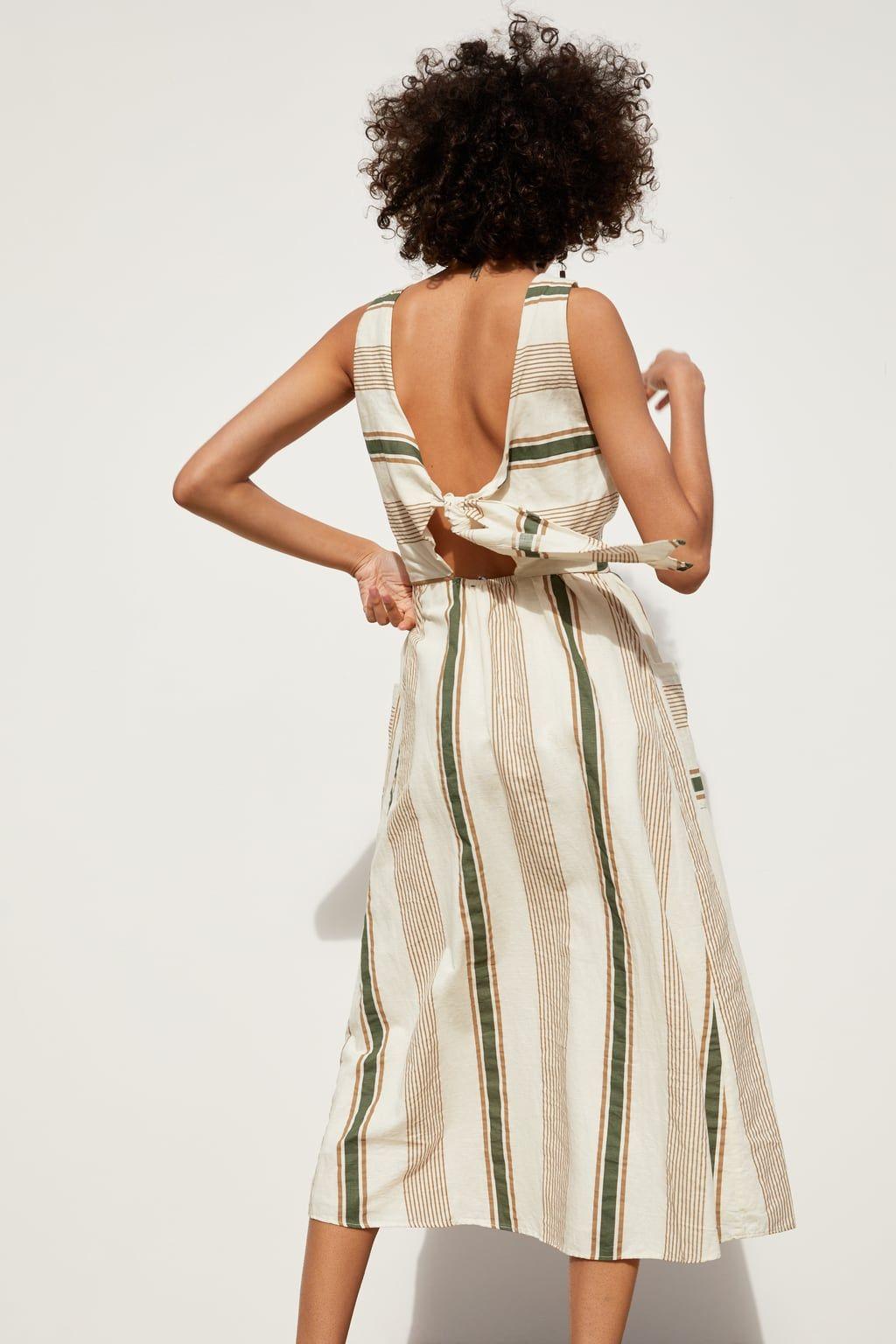 Immagine 19 di VESTITO RUSTICO A RIGHE di Zara  Rustikale kleider