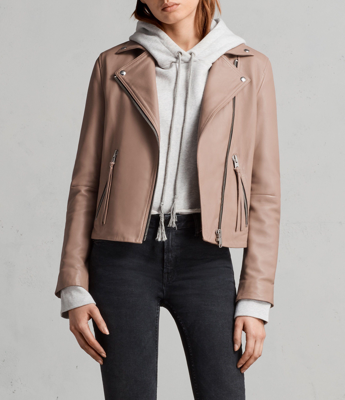 Dalby Biker Jacket Womens biker jacket, Pink leather