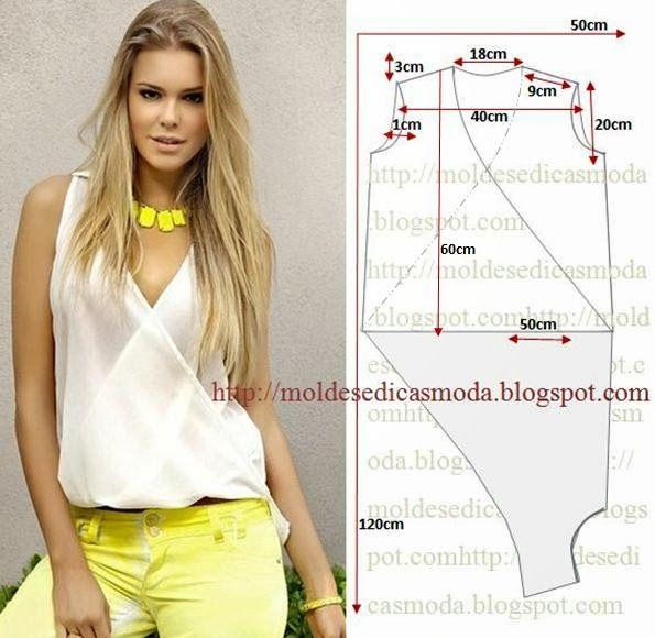Moldes Moda por Medida: BLUSA FÁCIL DE FAZER - 1 | Recycle clothes ...