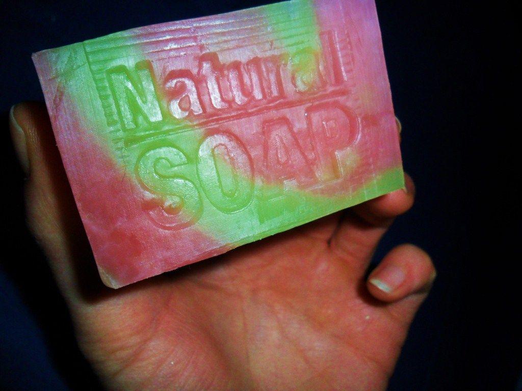 Rainbow soap