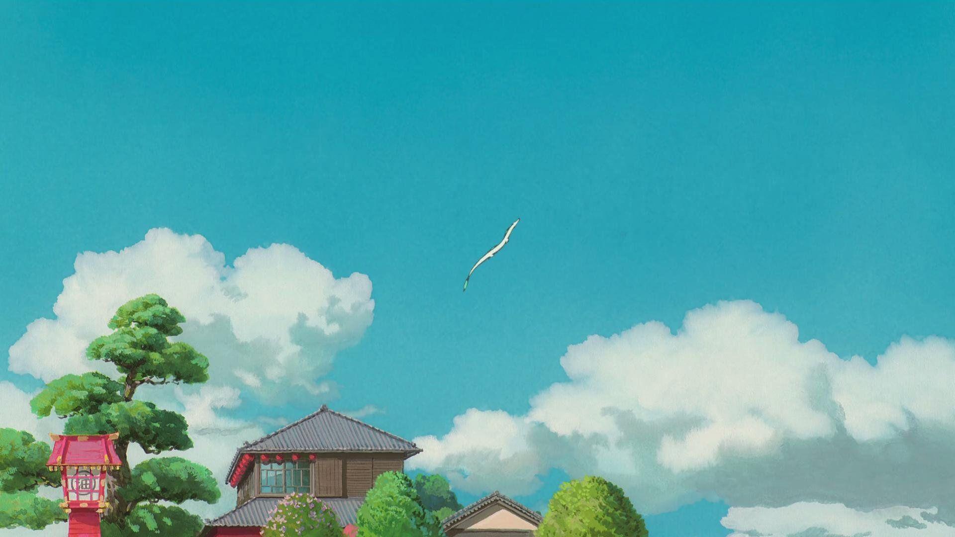 Spirited Away Wallpaper Spirited Away Wallpapers Full Hd 1080p Desktop In 2020 Spirited Away Wallpaper Ghibli Artwork Anime Scenery Wallpaper