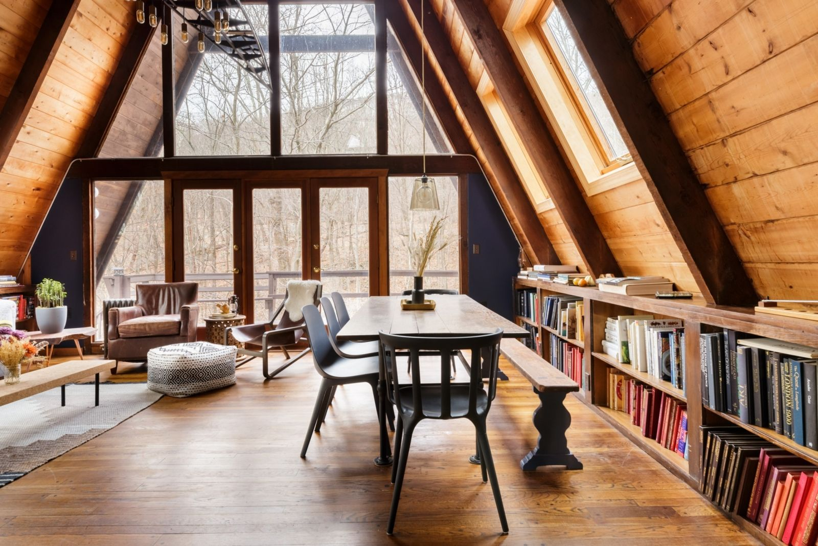 This Magnificent AFrame Cabin Is a Hudson Valley Dream