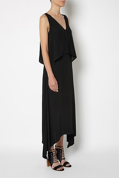 Shop Women s Clothing Australia - Witchery Online - V-Neck Point Hem Dress   witcherystyle 0733b39d3