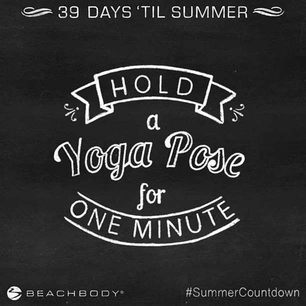 When it comes to building strength, balance, and flexibility, AND making you sweat, yoga is no joke. Hold a yoga pose for one full minute, or as long as you can! #SummerCountdown